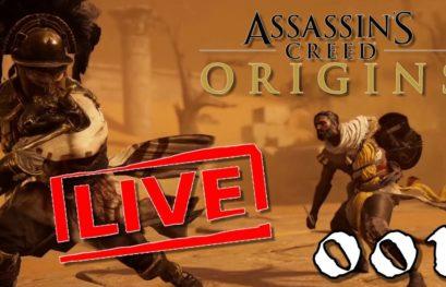 [Let's Play Live] Assassin's Creed Origins - 001 - Stumm in Ägypten