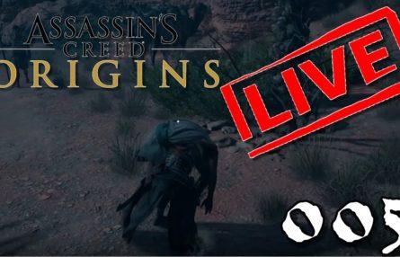 [Let's Play Live] Assassin's Creed Origins - 005 - Tauchen für Anfänger, Kämpfen wie ein Profi