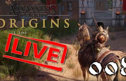 [Let's Play Live] Assassin's Creed Origins - 008 - Der erste Bosskampf naht